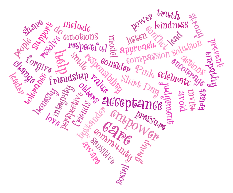 Pink bully tagcloud-213zxf2Verbal Bullying Words